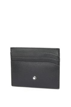 Montblanc Meisterstuck Selection Black Leather Pocket Credit Card Holder
